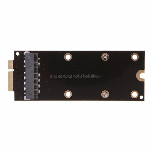 Новый Мини MSATA 7 + 17 Pin mSATA к MACBOOK PRO retina MC976 A1425 A1398 A1418 A1419 адаптер для жесткого диска карты A24 19 челнока
