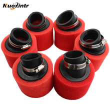 цена на Nuoxintr Red Bend Elbow Neck Foam Air Filter Sponge Cleaner Moped Bicycle ATV Dirt Bike Motorcycle 35mm 38mm 40mm 42mm 45mm 48mm