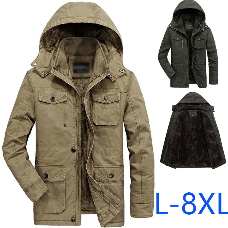 Jackets Men's Clothing 2019 New Bomber Jacket Men Thick Outwear Overcoat Winter Warm Mens Jackets And Coats Casual Hoodies Male Brand Clothing 4xl 5xl To Assure Years Of Trouble-Free Service