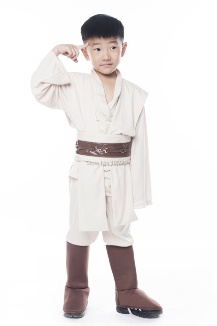 kids star wars robe jedi sith cosplay tunic costume obi anakin jedi