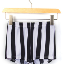 Восточное трикотажное X-115, новинка, вертикальные полосатые шорты, шорты, черные белые полосатые сексуальные шорты