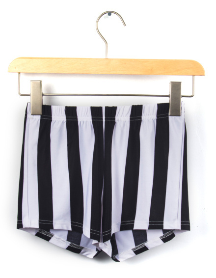 EAST KNITTING X-115 New 2017 Vertical Stripe   shorts     shorts   black white stripeSummer sexy Bottom