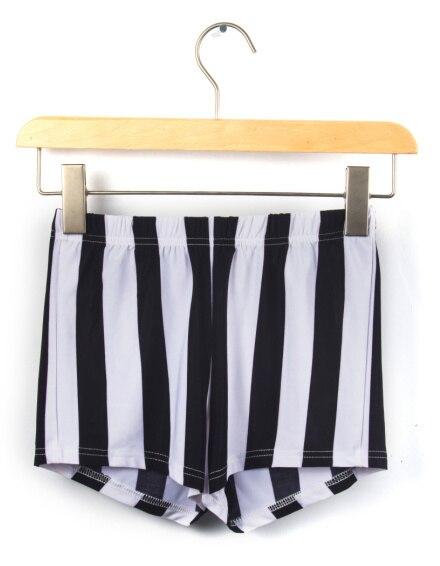 EAST KNITTING X-115 New 2017 Vertical Stripe shorts shorts black white stripeSummer sexy Bottom