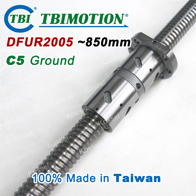 TBI 2005 C5 850mm ballscrews with DFU2005 ball nut + end machined for high precision CNC kit DFU set Custom high precision oem custom machined aluminum prototype