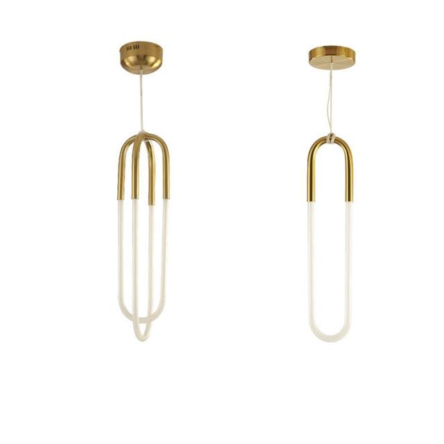 Modern simple Pendant Light art scene CCFL light tube warm white 3000K pure white hanging lamp home shop hall decoration
