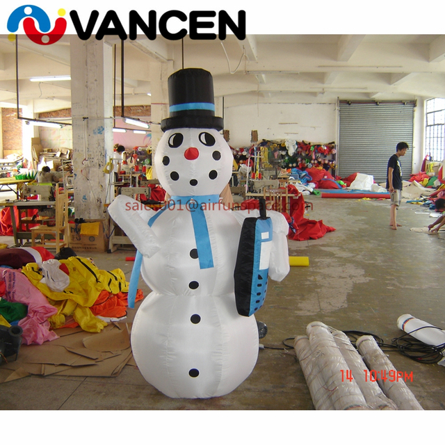 Merry christmas mascot 2mH inflatable snowman wholesale price high quality inflatable christmas decoration for sale