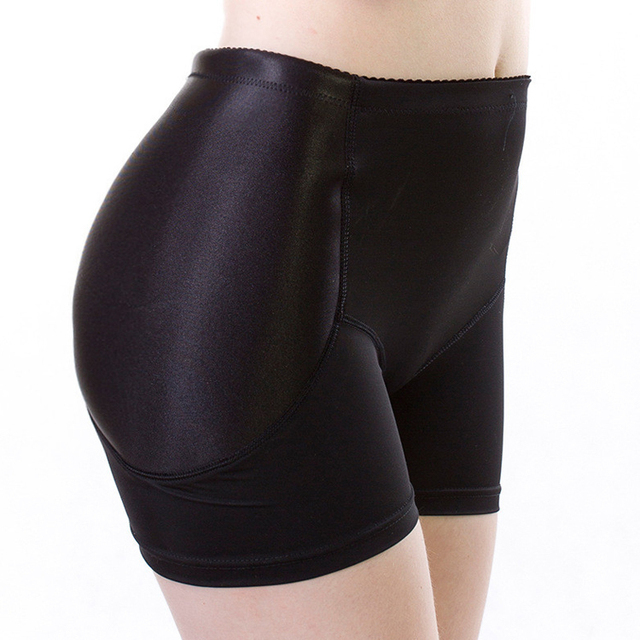 c6742bea735b Popular Black Women Sexy Boyshorts Fixed Fake Hip Panties Push Up Knickers  False Bum Hip Padded Panties Butt Enhance Buttocks