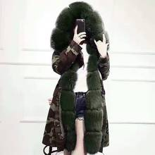 YOUMIGUE 2016 Multi-Color Luxury Women Winter Coat Jacket Thick Rex Rabbit Fur liner Lady parkas Fox Fur Hooded and Cuff