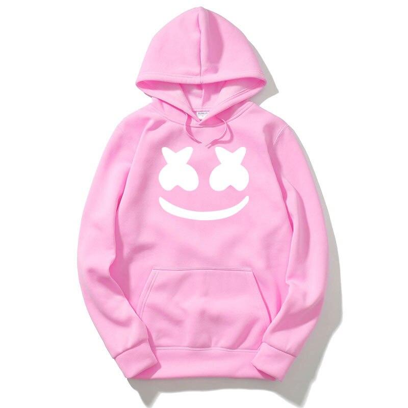 cf4569328ce Товар RUMEIAI winter New brand marshmello face Hoodies woman Men Casual  Slim Fit Hoodies Sweatshirt Sportswear Male Fleece Hooded -