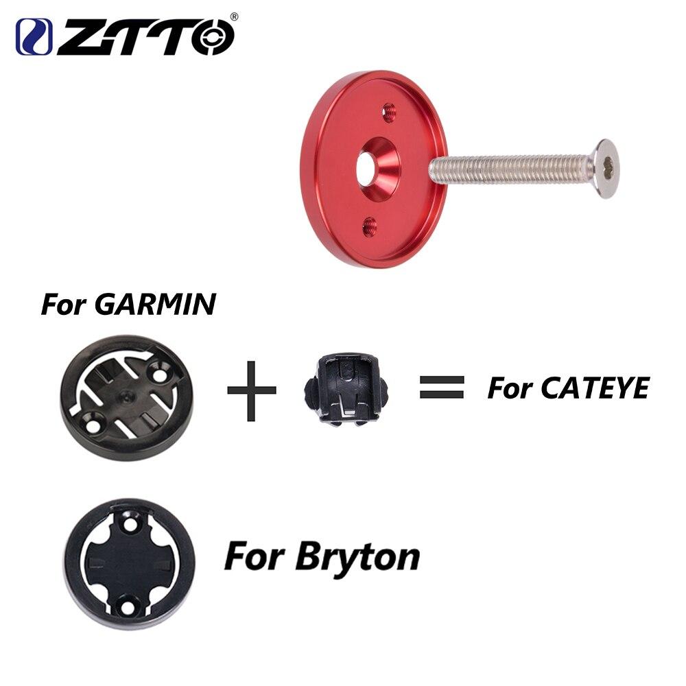 MTB Bike Bicycle Stem Top Cap Computer Mount Holder For Garmin//Bryton Cateye Hot