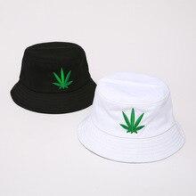 Мужская и женская шляпа с Кленовым листом в стиле хип-хоп, рыбацкая Панама, шляпы с вышивкой из хлопка, летняя повседневная Кепка с козырьком Swag Bob