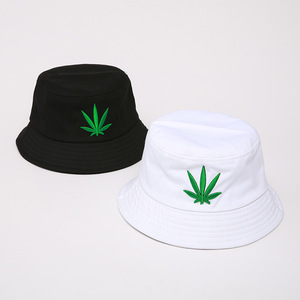 Men Women Maple Leaf Bucket Hat Hip Hop Fisherman Panama Hats Embroidery Cotton Outdoor Summer Casual Swag Bob Visor Bucket Cap(China)