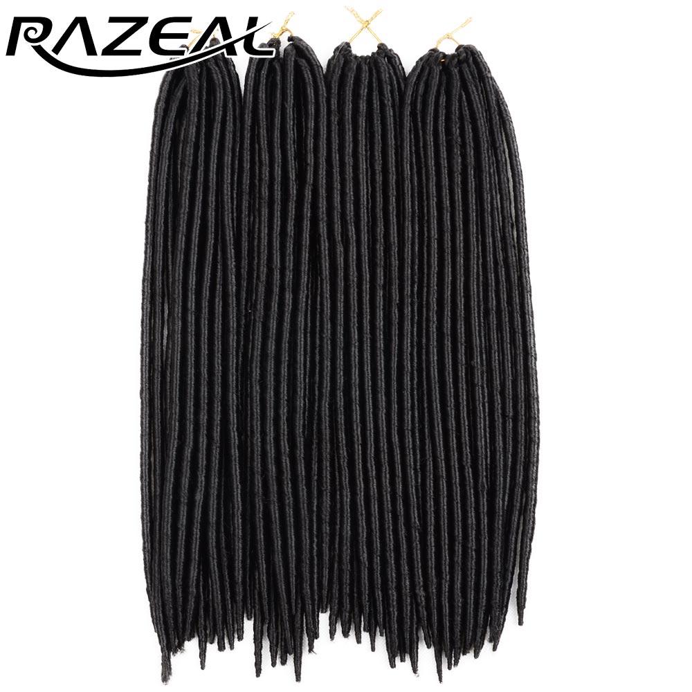 """Razeal 14 """"Вязание крючком косичек для волос 5шт. Искусственный замок 24 пряди Синтетическое плетение крючком для наращивания волос высокой температуры"""