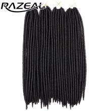 "Razeal 14"" Crochet Braids Hair 5Pcs Faux lock 24 Strands Synthetic Braiding Crochet Hair Extension High Temperature Fiber"
