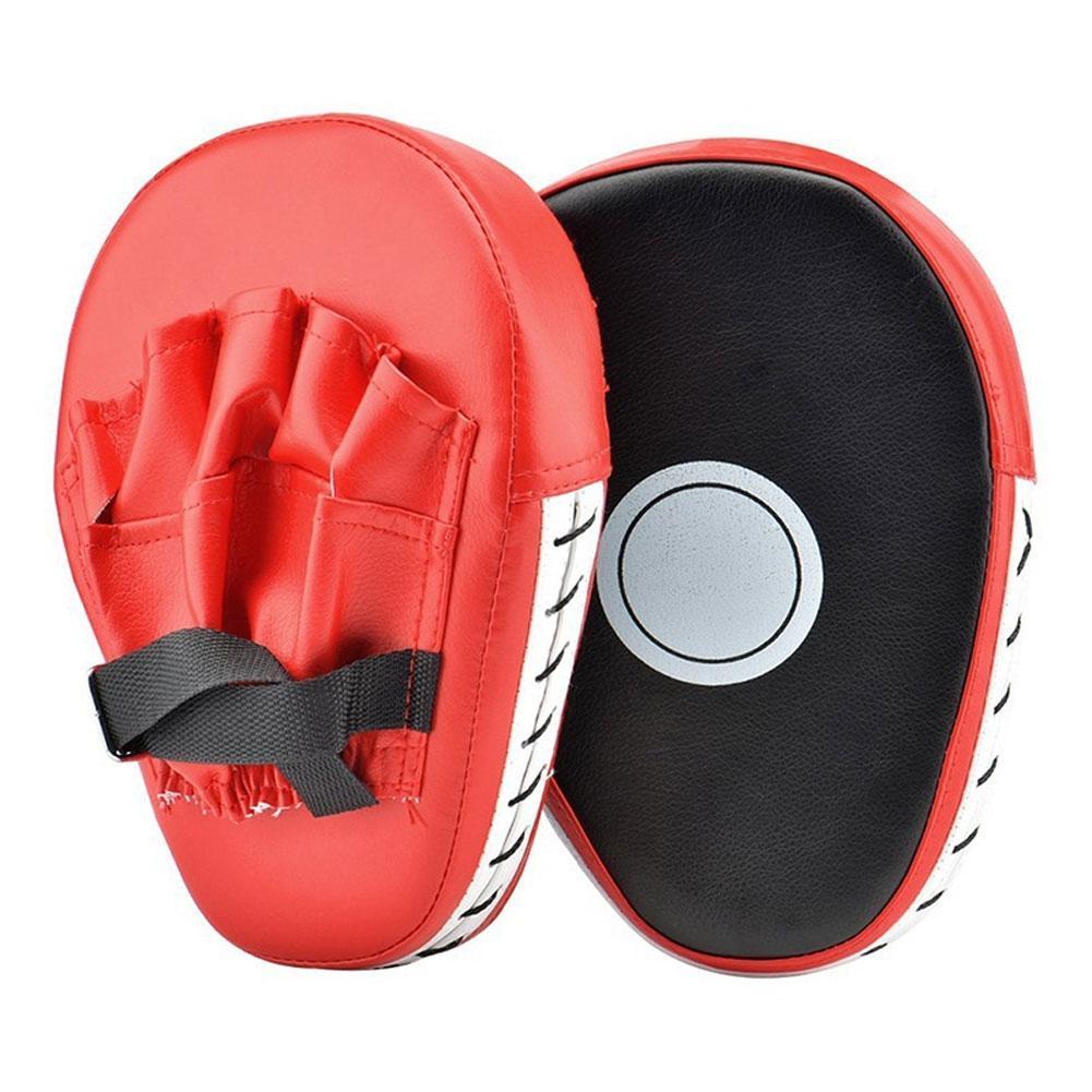 Alvo de Treinamento de Boxe Luvas de Couro Foco Punching Mão Profissional Luta Falso 1 Par Pad