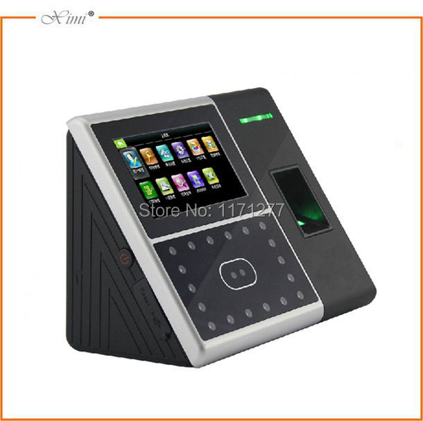 Free shipping GPRS network 4.3TFT touch screen MF 13.56MHz card reader access controller rfid face fingerprint time recorder