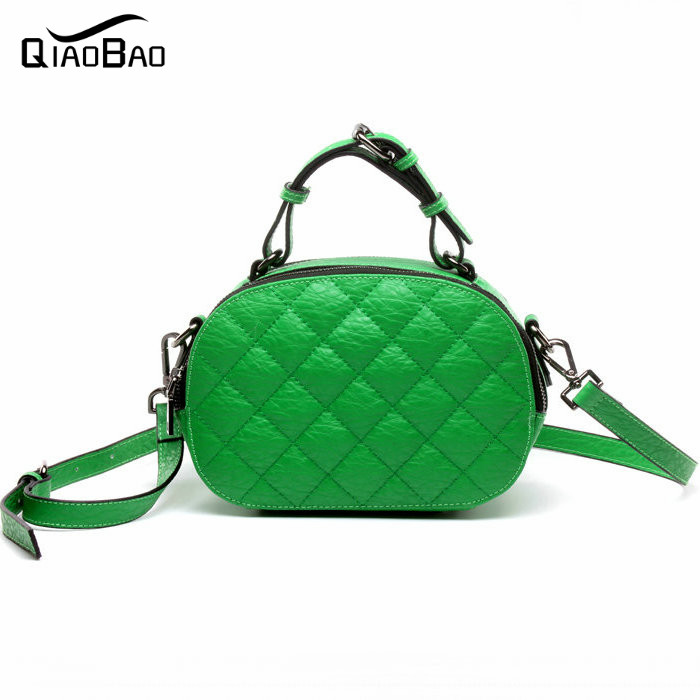 ФОТО QIAO BAO 100% Genuine leather bag 2017 luxury handbags Lattice women bags designer handbags high quality women fashion