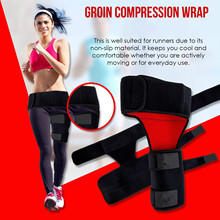 Groin Compression Wrap Hip Support Brace  Sciatica Pain Relief -injured Groin, Hamstring Thigh, Hip, and More.Nonslip Tight Grip