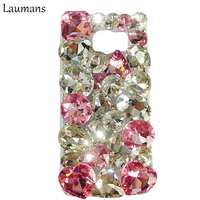 Laumans Case for samsung galaxy S8 plus Designs Handmade 3D Crystal Diamond Rhinestone Cover For s4 s5 s6 s7 edge note 3 4 5 7 8