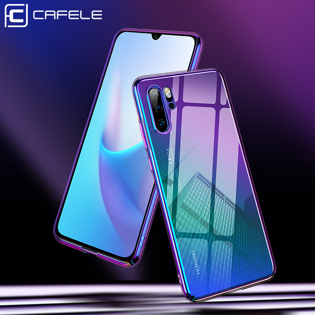 CAFELE Case For huawei p30 p20 pro cases luxury Aurora Gradient Color Transparent Cover For huawei p30 p20 light Hard PC Case