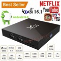 Genuine SKFX96 Quad Core Android 6.0 TV Box 4K 8GB / 16GB 2.4G WiFi HDMI 2.0a KODI Smart TV Box Set Up Box Media Player Miracast