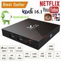 Genuine SKFX96 Quad Core Android 6.0 TV Box 4K 8GB / 16GB 2.4G WiFi HDMI 2.0a KODI Smart TV Box Set Up Box Media Player Miracast