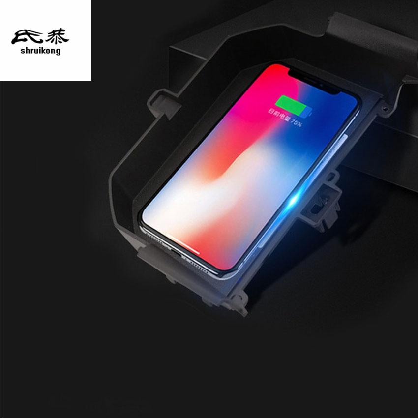 Voiture téléphone portable QI chargeur sans fil Module voiture accessoires pour 2018 2019 BMW G30 530i 530d 520i 540i