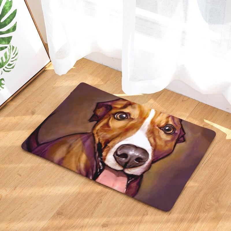 Doormat Carpets Oil Painting Dog Print Mats Floor Kitchen Bathroom Rugs 40X60or50x80cm