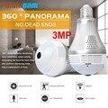 Новая 360 градусов рыбий глаз Wifi лампа ip-камера в форме лампы LS-QJ58 Светодиодная лампа 3MP Беспроводная панорамная домашняя охранная CCTV камера н...