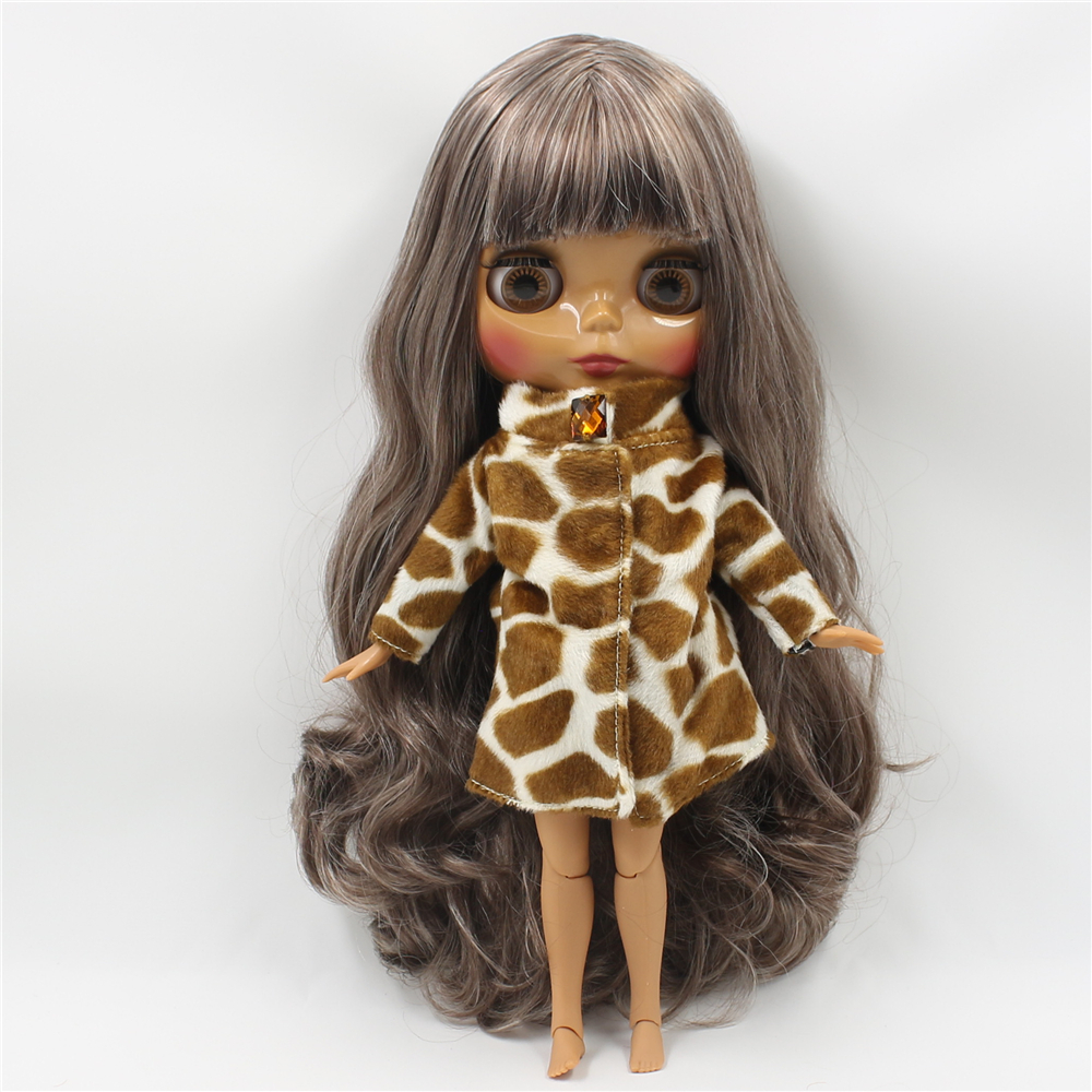 Blyth Nude Doll Dark Skin Joint Body Mix Color with Bangs Suitable DIY makeup doll toys for girlsBlyth Nude Doll Dark Skin Joint Body Mix Color with Bangs Suitable DIY makeup doll toys for girls