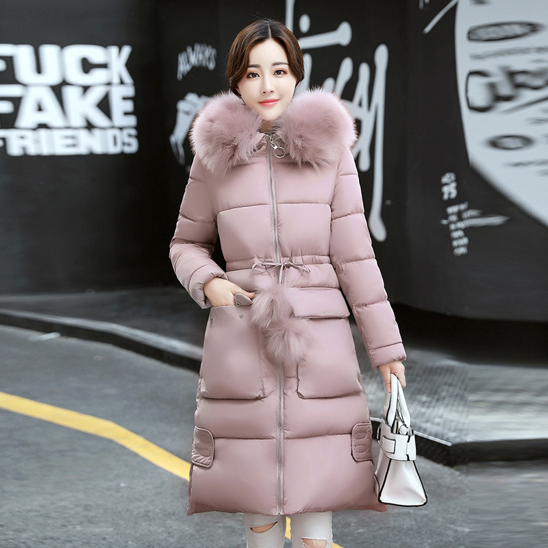 2017 women in the long down middle school students winter cotton thickened slim waist coat on behalf of the putting all students on the graduation path