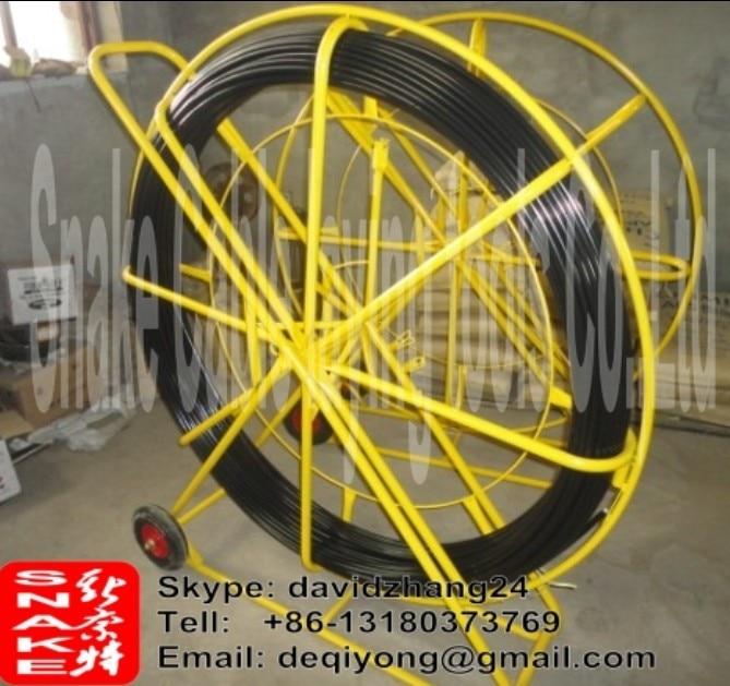 Asta di spinta in fibra di vetro 14mm 300meters con carrello telaio