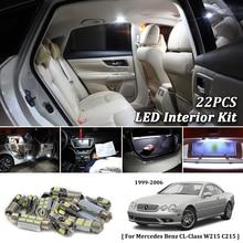 22X White Canbus led Car font b interior b font lights Package Kit for Mercedes Benz