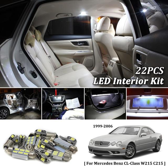 22x White Canbus Led Car Interior Lights Package Kit For Mercedes