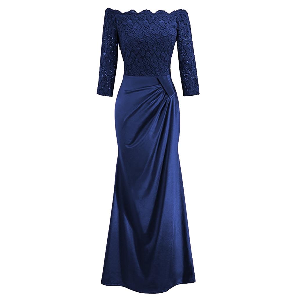 Winter Vintage Dress Women Elegant Long Party Dress Full Sleeve Lace Maxi Dress Bodycon Dresses Evening