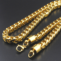 AMUMIU Chunky Necklace Men Jewelry 2017 New Stainless Steel 60cm 8MM Long Rope Chain Kpop Collares