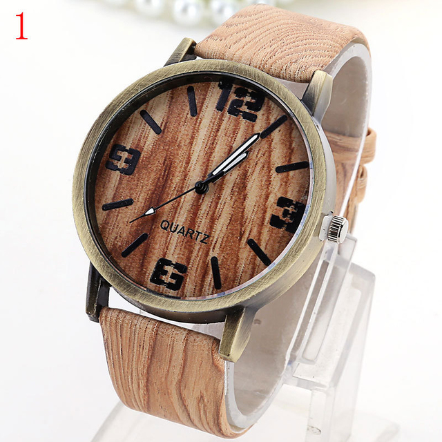 Wood Stripe Pattern Wrist Watch 4