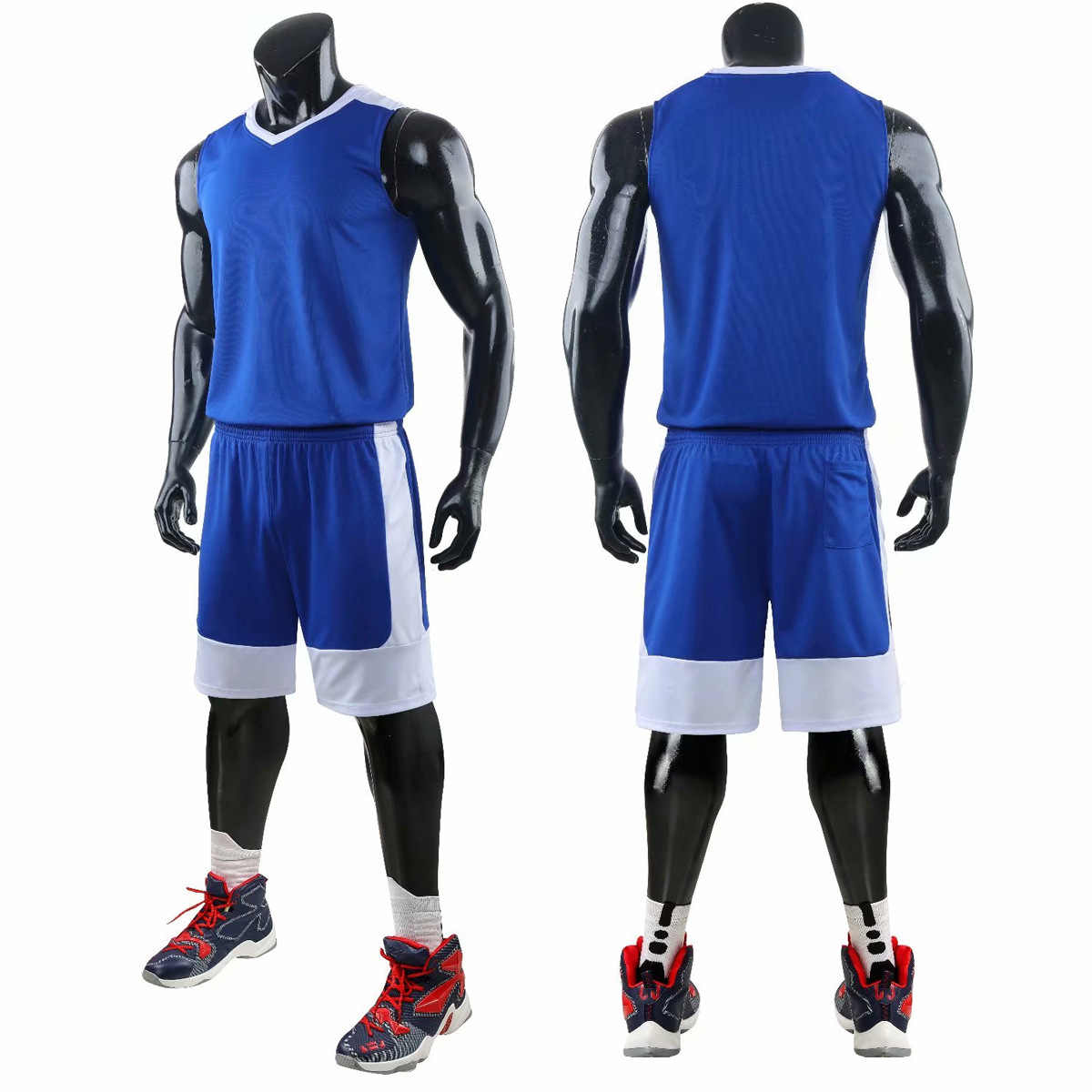 New High Quality Men Basketball Set Uniforms Kits Sports Clothes Kids Basketball Jerseys Kids College Tracksuits DIY Customized