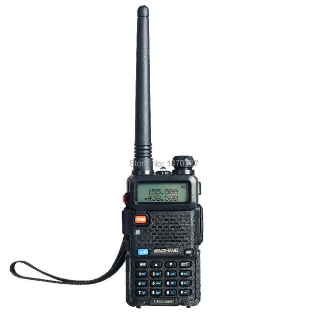 Dual band rádio em dois sentidos baofeng uv 5r walkie talkie 5 w 128ch UHF VHF FM VOX Pofung UV-5R ham radio Dual Display para carro