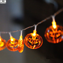 20leds 40leds Battery Operated Halloween Pumpkin LED String Lights Halloween Holiday Christmas Party Garden Decoration Lights