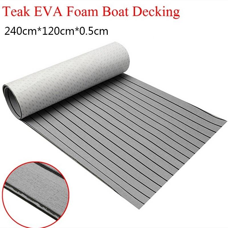 1200 мм x 2400 мм eva пены искусственные Тиковый Простыни лодки RV яхты синтетические морской настилом из тика 47 дюймов x 95 дюймов 5 мм серый с черной...