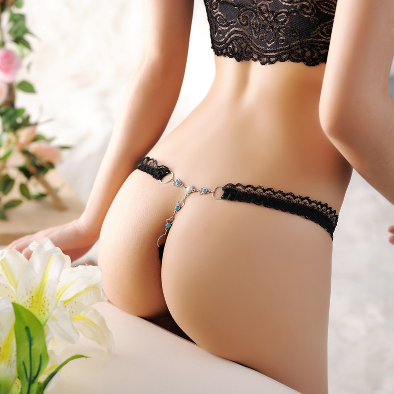 Women Ladies Sexy Thongs G-string V-string Metal Button   Panties   Underwear Knickers Lingerie Sexi Lingerie Underwear Woman T269