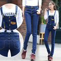 Women Jumpsuit Denim Pencil Overalls 2016 New Spring Autumn Casual Loose Pants Removable strap Jeans Plus Size C542