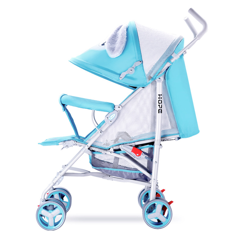 Little Dog Sunshade Adjustable 3 Positions Baby Carriage Foldable High Quality Four Wheels Stroller