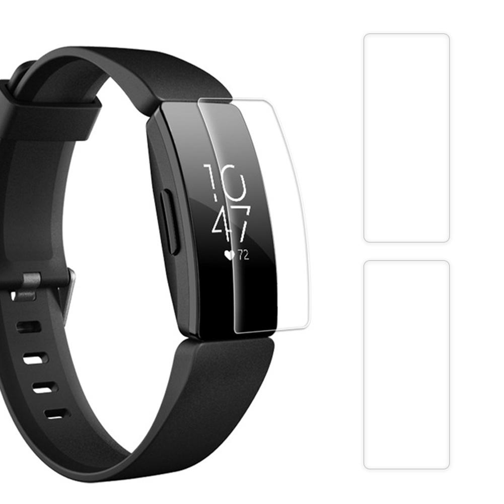 3Pcs TPU À Prova D' Água Relógio Inteligente Tela Película Protetora para Fitbit Inspirar HR