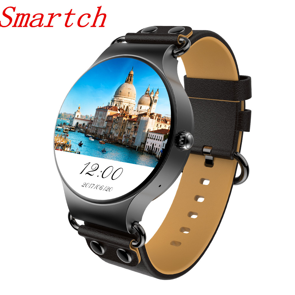 Smartch NEW KW98 SIM Smart Watch Android 5.1 3G WIFI GPS Watch MTK6580 Smartwatch iOS Android For Samsung Gear S3 Xiaomi PK KW88 цена 2017