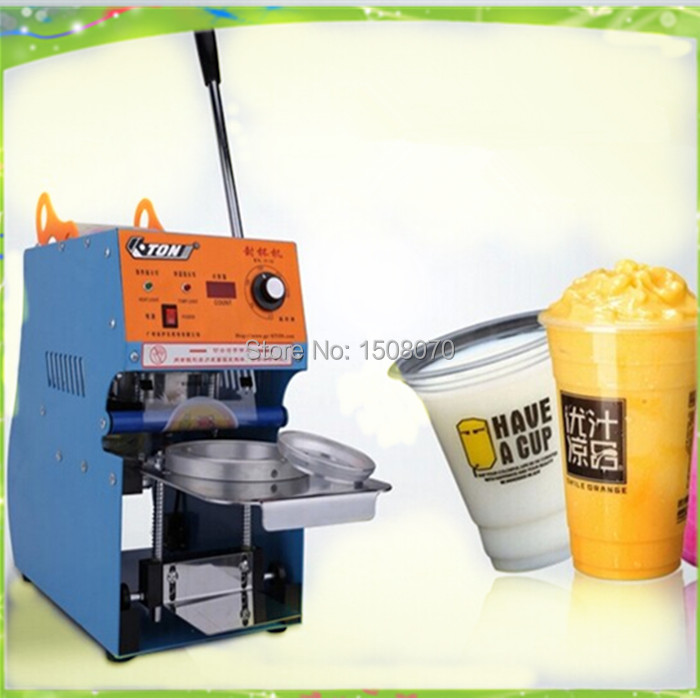 Electric Automatic Plastic Drink Tea Cups Sealer Sealing Machine 220v 2017
