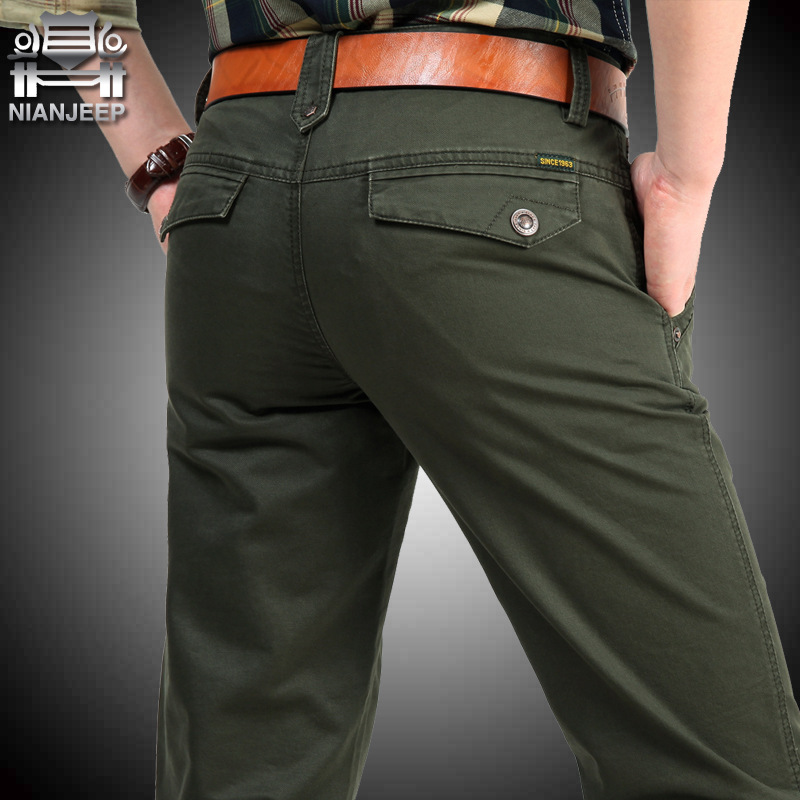NIANJEEP Cotton Cargo Pants Army Male Trousers men's summer