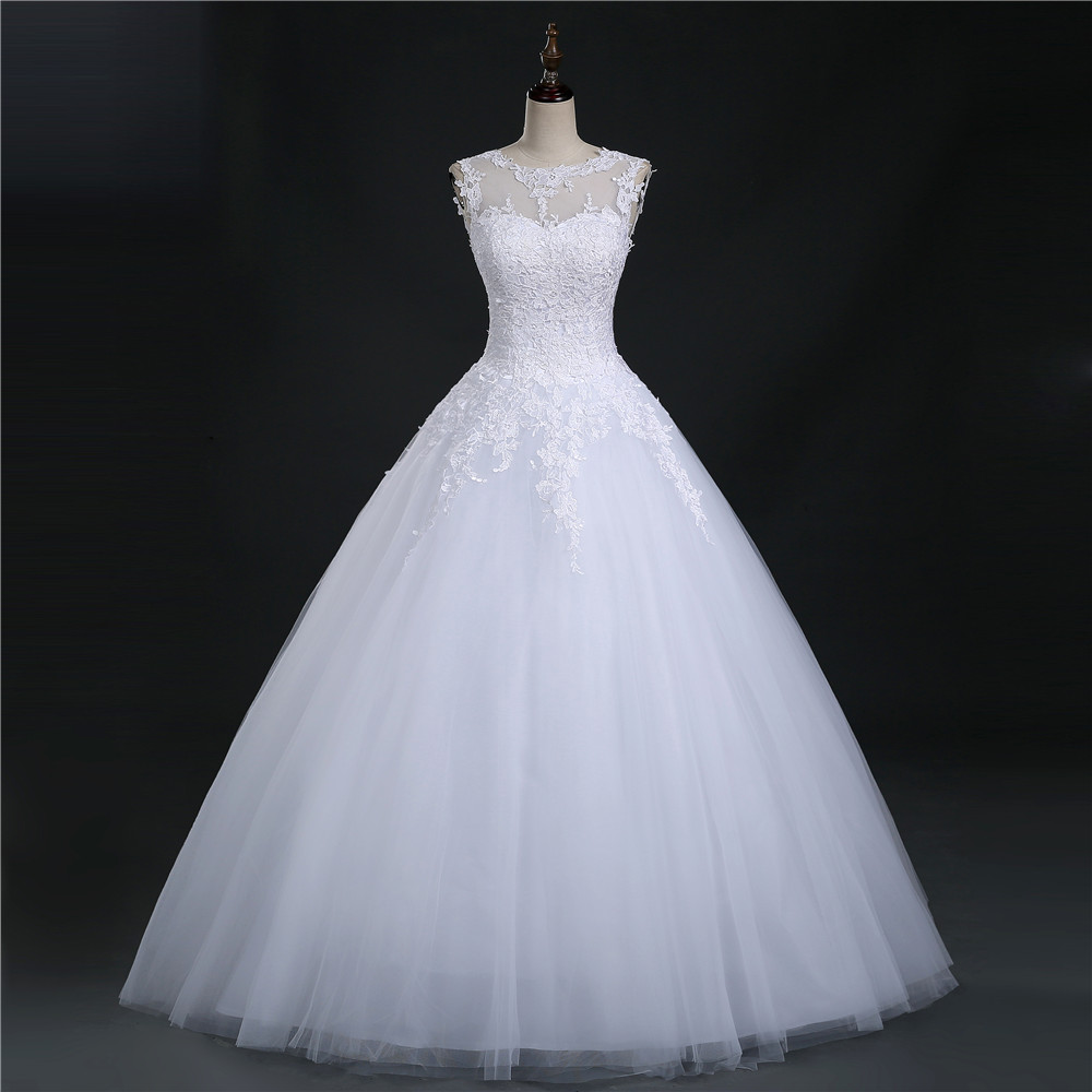 9036 2016 lace white ivory prom gown lace up back wedding for Wedding dresses with lace up back