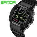 SANDA Digital-Reloj Del Deporte de Los Hombres Reloj Militar Digital LED Reloj de Buceo 30 M Moda Al Aire Libre Relojes de pulsera de reloj Del Relogio masculino